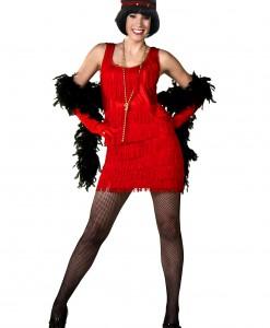 Red Flapper Fashion Dress