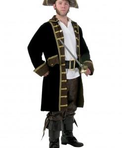 Men's Plus Size Realistic Pirate Costume