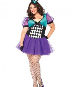 Plus Size Miss Mad Hatter Costume