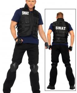 Plus Mens SWAT Team Costume