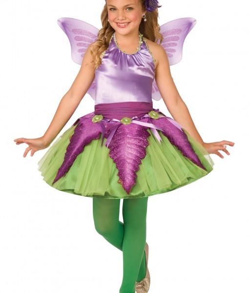 Child Purple Flower Fairy Costume