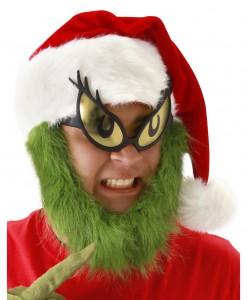 Grinch Hat with Fur Beard