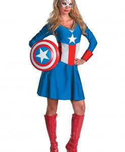 Women's Captain America Costume