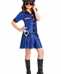 Girls Blue Police Officer Costume