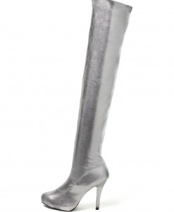 Sexy Tall Silver Boots