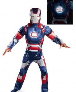 Kids Iron Patriot Muscle Light Up Costume