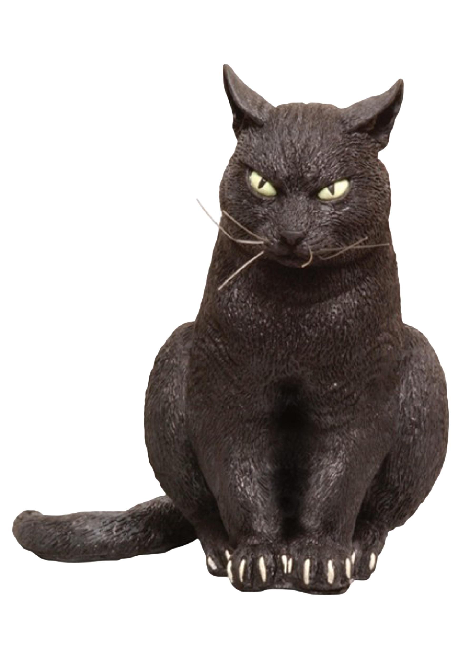 Foam Sitting Black Cat