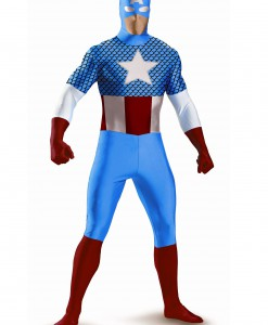 Teen Captain America Bodysuit Costume