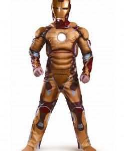 Kids Iron Man Mark 42 Muscle Light Up Costume