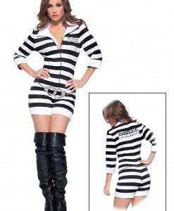 Womens Sexy Jailbird Costume