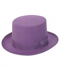 Purple Wool Top Hat