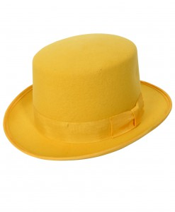Yellow Wool Top Hat