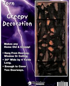 Torn Creepy Door Decoration