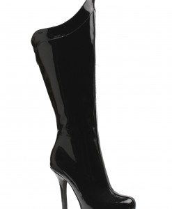 Womens Black Superhero Boots
