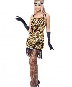 Black/Gold Sequin Flapper Costume