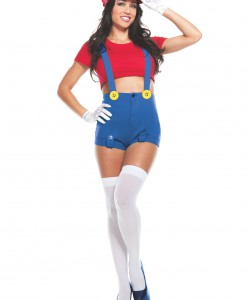 Womens Red Player Costume