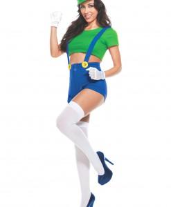 Womens Green Player Costume