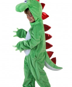 Child Green Dinosaur w/ Red Spikes