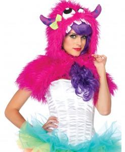 Pink Monster Fur Shrug