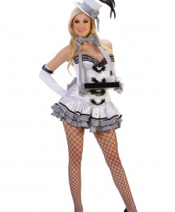 Sexy White Cigarette Girl Costume