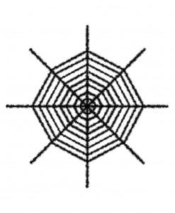 Giant Shimmering Spider Web