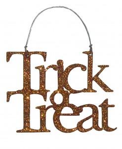 Orange Trick or Treat Sign