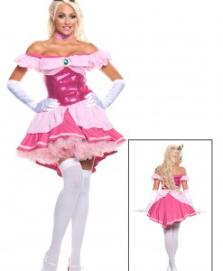 Plus Exclusive Sexy Sequin Pink Princess Costume