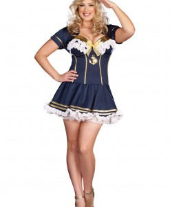 Plus Size Navy Pin Up Sailor Costume