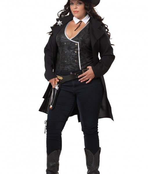 Plus Size Round Em Up Cowgirl Costume