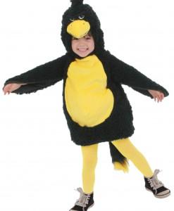 Toddler Black Grumpy Bird Costume