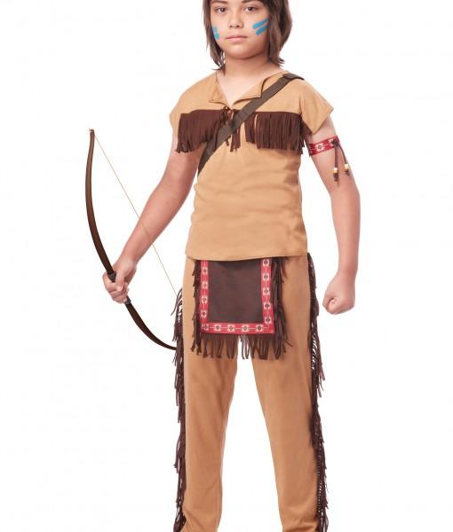 Child Native American Brave Costume