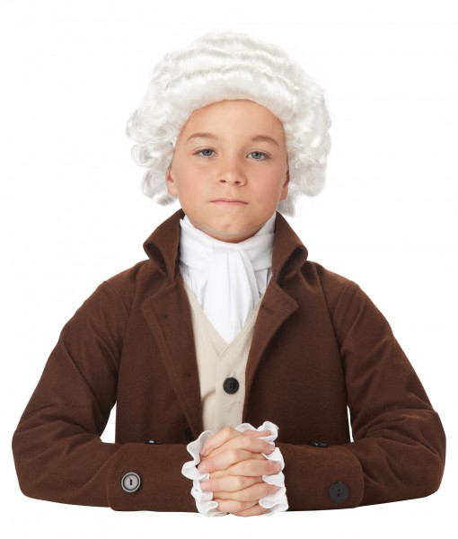 Child Colonial Man Wig