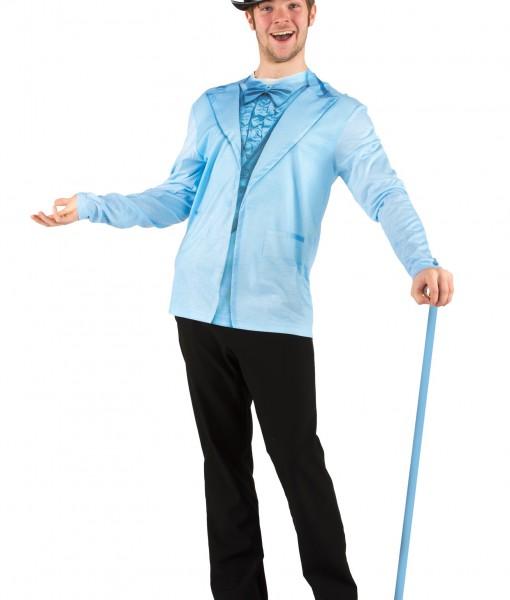 Men's Blue Tuxedo Costume T-Shirt