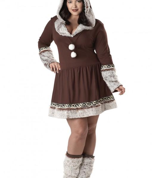 Sexy Plus Size Eskimo Kisses Costume