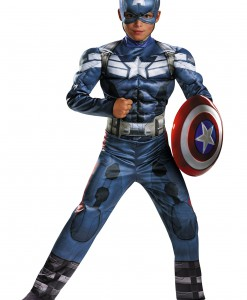 Child Captain America 2 Classic Muscle Costume