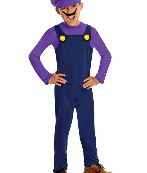 Waluigi Kids Costume