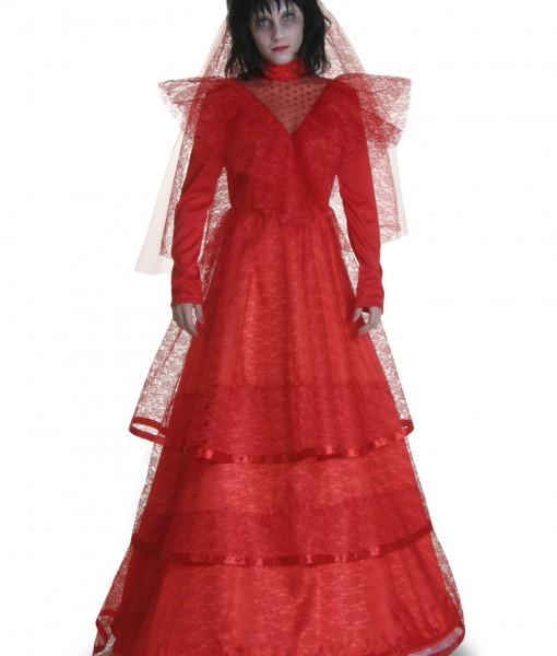 Plus Size Red Gothic Wedding Dress