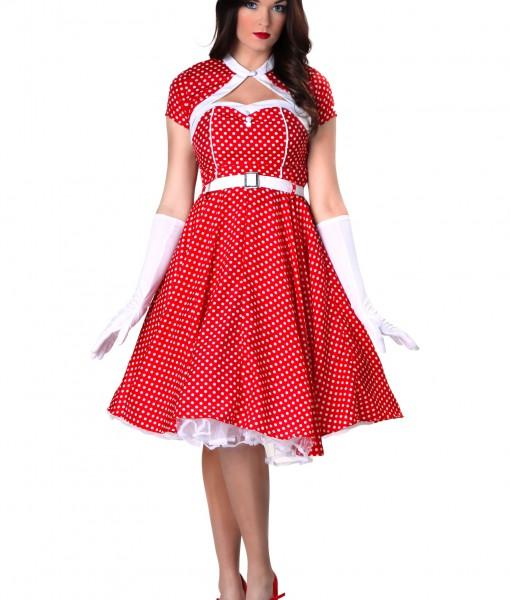 Plus Size 1950s Sweetheart Dress Costume