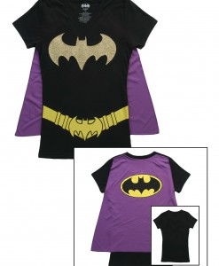 Womens Batgirl Cape T-Shirt
