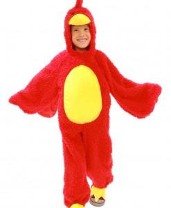 Child Red Grumpy Bird Costume