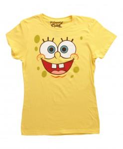Women's SpongeBob Face Costume T-Shirt