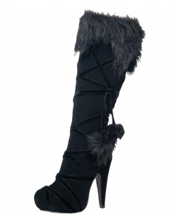 Warrior Black Lace Up Boots