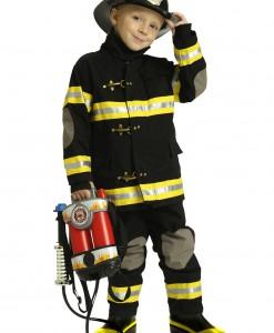 Boys Black Fireman Costume