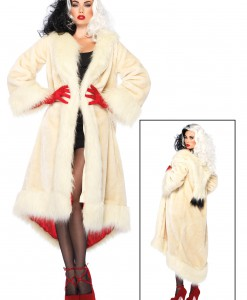 Women's Disney Cruella Coat Costume