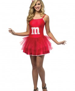 Women's M&M Red Party Dress