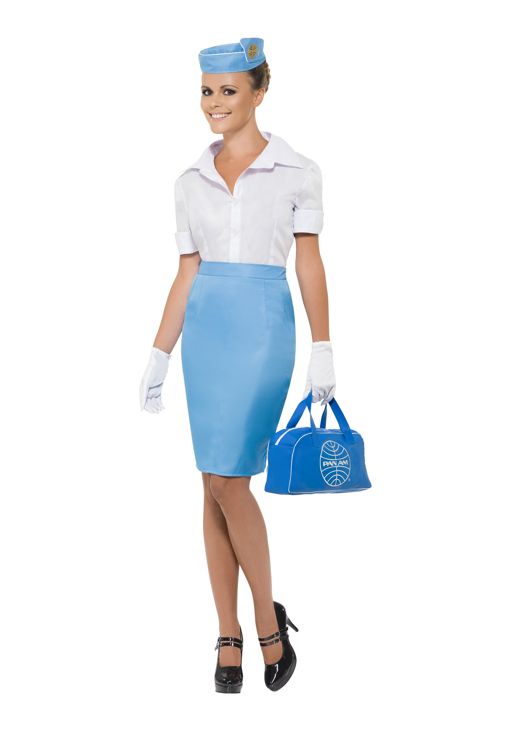 Women S Pan Am Flight Attendant Costume Halloween