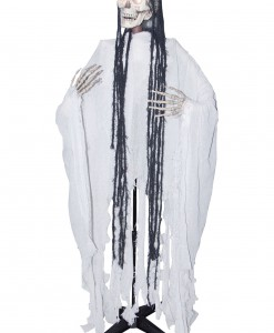 Standing Head Turning White Reaper