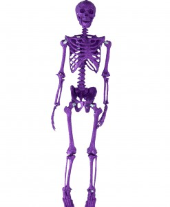 35.5''  Purple Glitter Skeleton