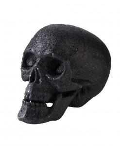 5 Small Black Glitter Skull