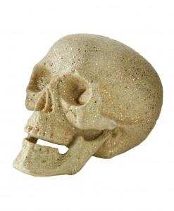 5 Small Silver Glitter Skull